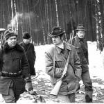 Jasiu Robakowski wraz z kolegami w drodze na stanowiska