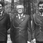 Rodzina Świątkowskich - z lewej - junior Krzysztof, w środku - senior Edward a z prawej - Zbigniew też junior