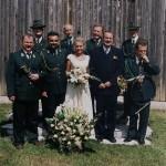 Delegacja koła wraz z nowożeńcami