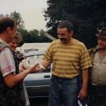Piotr Zajiczek, Ala Górna, Krzysiek Świątkowski i Stasiu Kozyra po strzelaniu
