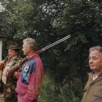 Stasiu Kozyra, Felek Gładkowski i Jan Ćwiklik na strzelnicy
