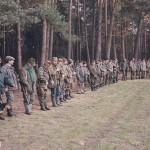 Zbiórka na polanie przy Rakoniewicach po polowaniu hubertowskim